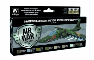Vallejo 71608 Zestaw Air War 8 farb - Soviet / Russian colors Tactical Schemes 1978-1989 (Part II)