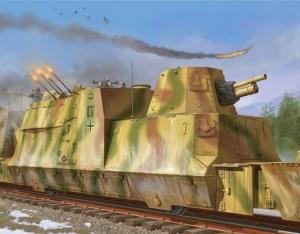 Trumpeter 01511 Wagon artyleryjski z niemieckiego pociągu pancernego BP-42 - 1:35