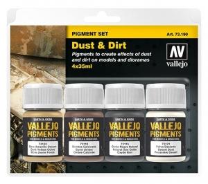 Vallejo 73190 Zestaw Pigmenty 4 kolory - Dust & Dirt
