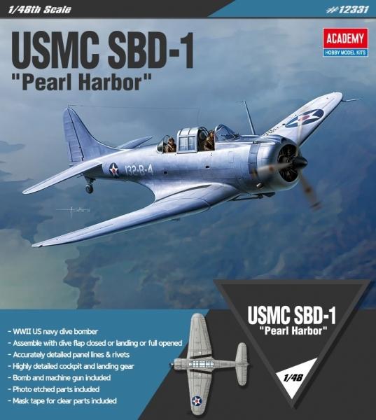 Academy 12331 USMC SBD-1 Pearl Harbour 1:48
