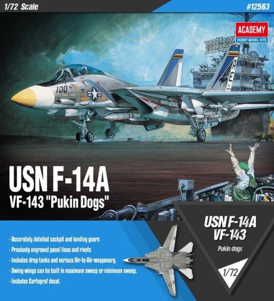 Academy 12563 USN F-14A VF-143 Pukin Dogs 1:72