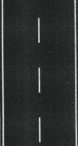 Ulica - Jezdnia jednopasmowa, asfaltowa, skala H0