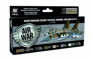 Vallejo 71609 Zestaw Air War 8 farb - Soviet / Russian colors Tactical Schemes 1960-2000 (Part I)