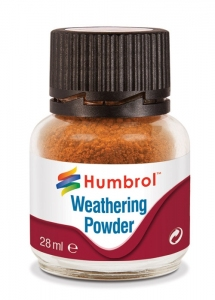 Humbrol AV0008 Pigment Weathering Powder 28 ml - Rust AV0008