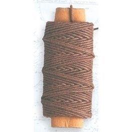 Lina bawełniana brązowa 0,75 mm, 10 m