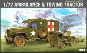 U.S. Ambulance and tow tractor