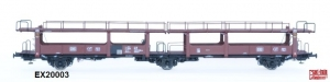 Exact-Train EX20003 Wagon do transportu samochodów Laekkms 542, 21 RIV 80 DB 426 5 217-0, DB, Ep. IV