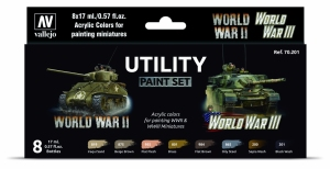 Vallejo 70201 Zestaw World War II & III 8 farb - Utility Paint Set