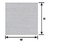 Plastruct 91681 Płyta Styren ryfel 178x300x0,5 Biała