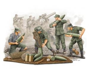 Trumpeter 00426 Figurki - Obsługa amunicyjna niemieckiej haubicy polowej s.FH 18- 1:35