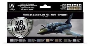 Vallejo 71627 Zestaw Air War 8 farb - Armée De L'air Colors Post WWII to Present
