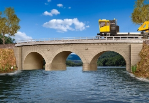 Kibri 39722 Kamienny most kolejowy jednotorowy - łuk