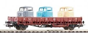 Wagon platforma Rmms 62 z ładunkiem, DR, Ep. III