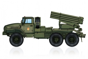 Hobby Boss 82931 Wyrzutnia rakiet BM-21 Grad - 1:72