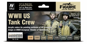 Vallejo 70186 Model Color Zestaw 8 farb - WWII US Tank Crew