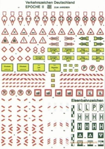 Heki 6510 Znaki drogowe - Niemieckie, Ep. II, skala H0