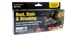 Vallejo 70183 Zestaw Model Color 8 farb - Rust, Stain & Streaking