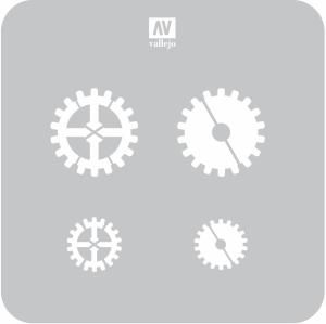 Vallejo ST-SF001 Szablon Gear Marks