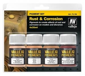Vallejo 73194 Zestaw Pigmenty 4 kolory - Rust & Corrosion