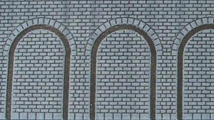 Heki 72002 Mur ceglany z arkadami H0/TT