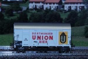 Wagon towarowy kryty Oppeln Dortmunder Union Bier Nr. 504253 P, DB, Ep. III
