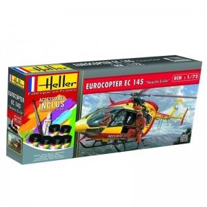 Heller 56375 Starter Set - Eurocopter EC 145 Sécurité Civile - 1:72
