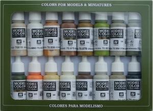 Vallejo 70141 Zestaw Model Color 16 farb - Earthtones