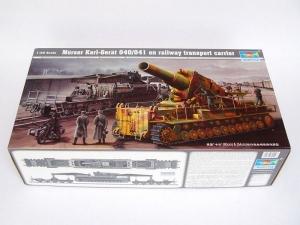 Trumpeter 00209 Transporter kolejowy do Morser Karl-Gerat 040/041 - 1:35