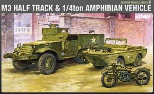 M3 Halftrack + Amfibia + motocykl