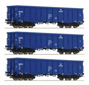 Roco 76128 Zestaw 3 węglarek Eaos, PKP Cargo, Ep. VI