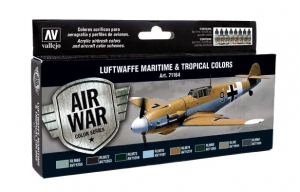 Vallejo 71164 Zestaw Air War 8 farb - Luftwaffe Maritime and Tropical Colors