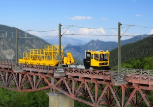 Kibri 39754 H0 Słup trakcyjny, mostowy