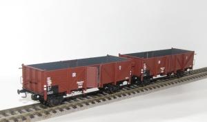 Exact-Train EX20140 Zestaw 3 wagonów towarowych odkrytych Klagenfurt Omm34, DRG, Ep. II