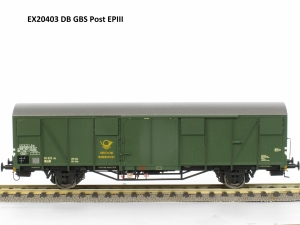 Exact-Train EX20403 Wagon towarowy kryty DBP Post2ss-t/13 Glmmehs 61, DB, Ep. III