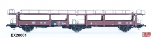 Exact-Train EX20001 Wagon do transportu samochodów Laekkms 542, 21 RIV 80 DB 426 5 096-8, DB, Ep. IV