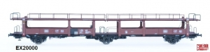 Exact-Train EX20000 Wagon do transportu samochodów Laekkms 542, 21 RIV 80 DB 426 5 326-9, DB, Ep. IV