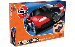 Airfix J6020 Quickbuild - Bugatti Veyron Black/Red