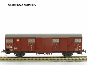 Exact-Train EX20412 Wagon towarowy kryty Gbs 252, DB, DB AG, Ep. V