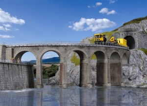 Kibri 39725 Kamienny most kolejowy jednotorowy - łuk