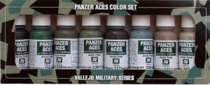 Zestaw Panzer Aces 8 farb - 5 Crew uniforms
