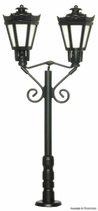 Viessmann 6073 H0 Lampa parkowa czarna, 65 mm