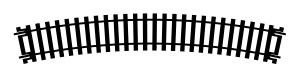 Hornby R608 Tor łukowy R3, R505 mm, 22,5st.