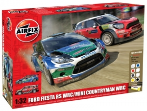 Airfix A50154 Gift Set - Ford Fiesta WRC and Mini Countryman WRC Twin Pack 1:32