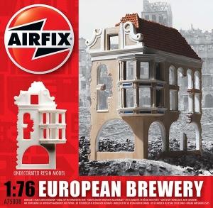 Ruiny budynku WWII - Kamienica z restauracją - Europa 1:76