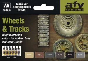 Vallejo 71213 Zestaw Model Air 6 farb - Wheels & Tracks