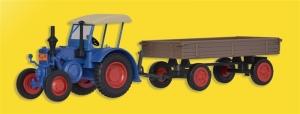 Kibri 12232 Traktor Lanz z przyczepą