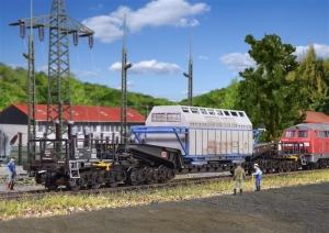 Wagon specjalny Uaais 819 z kontenerem Castor