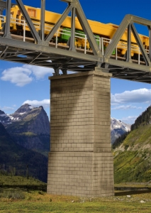 Kibri 39752 Pylon mostu - murowany