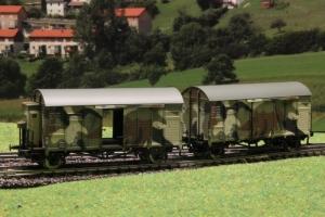 Exact-Train EX20238 Zestaw 2 wagonów towarowych krytych Oppeln GRS, DRG, Ep. II