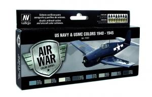 Zestaw Air War 8 farb - WWII USN Aircraft